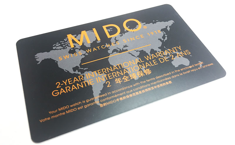 гарантийная карта MIDO