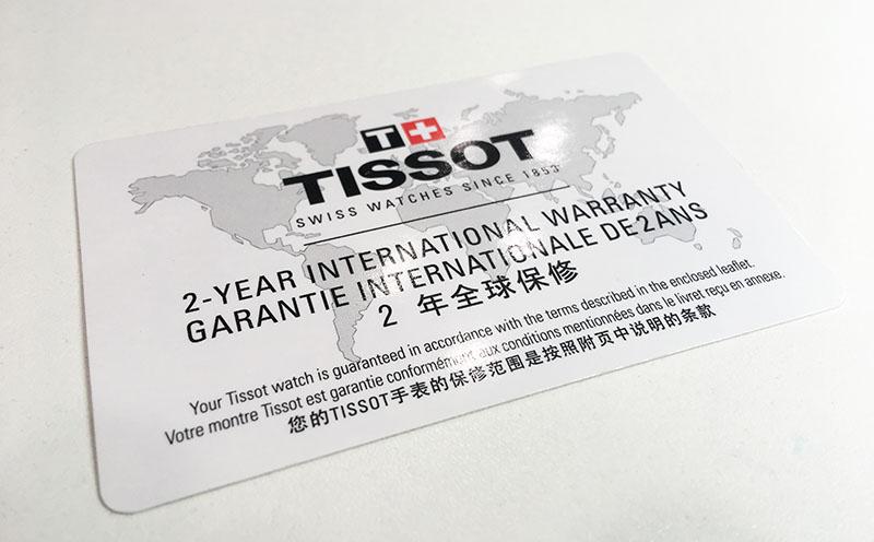 гарантийная карта Tissot